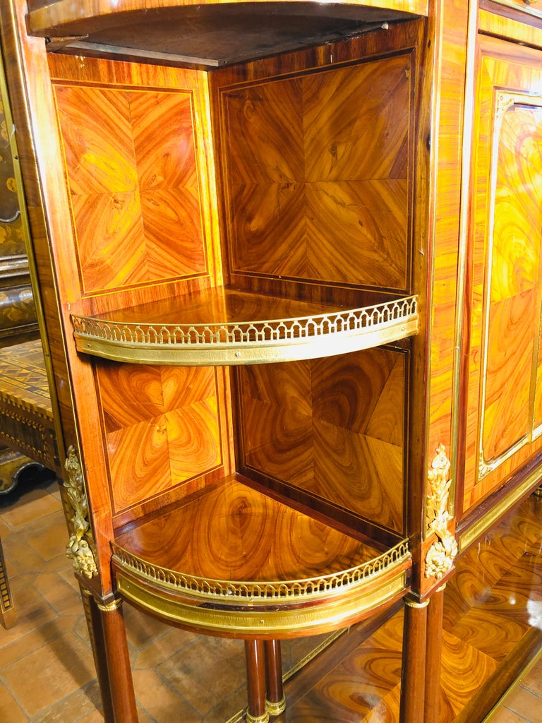 18th Century Louis XVI Bois de Rose Secretaire, Roger Vandercruse Lacroix, 1780s For Sale 9