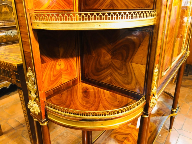 18th Century Louis XVI Bois de Rose Secretaire, Roger Vandercruse Lacroix, 1780s For Sale 10