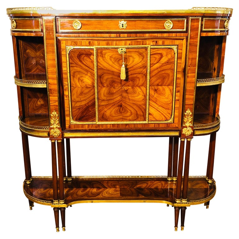 18th Century Louis XVI Bois de Rose Secretaire, Roger Vandercruse Lacroix, 1780s For Sale
