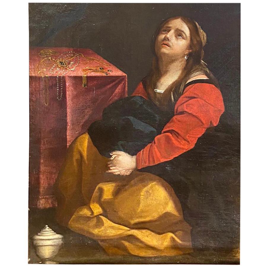 18th Century La Maddalena Oil on Canvas