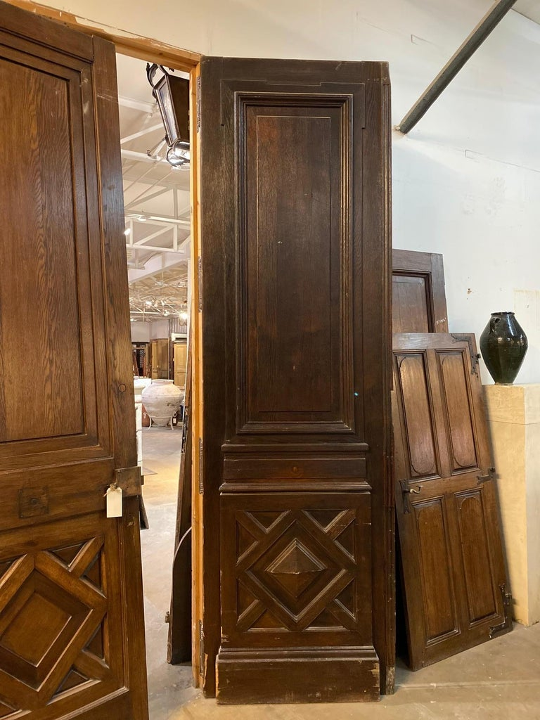 18th Century Large Antique French Oak Doors For Sale 1
