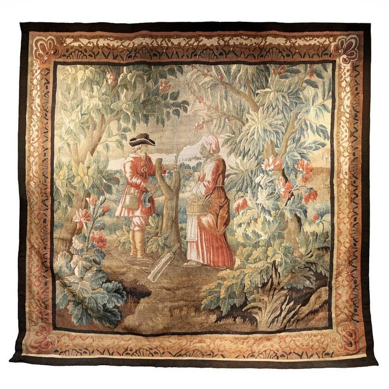 18th Century Large Aubusson Tapestry