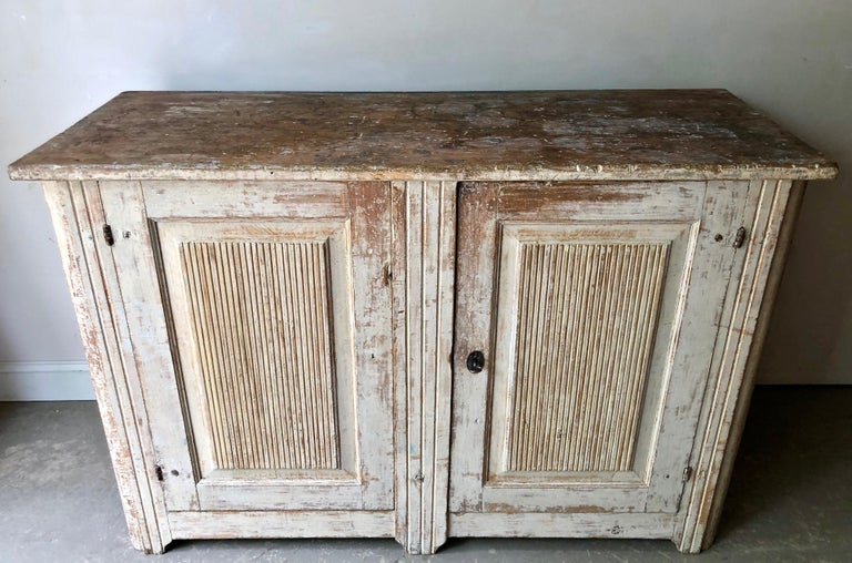 Hand-Carved 18th Century Large Swedish Period Gustavian Sideboard For Sale