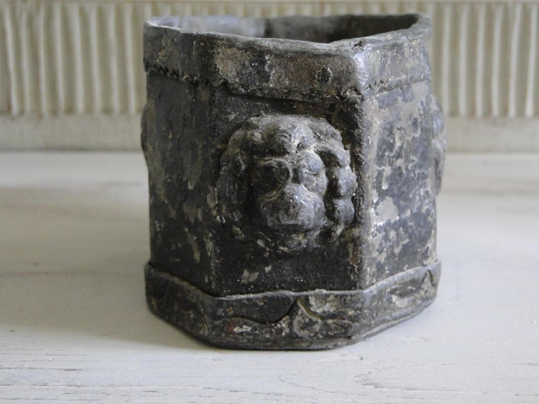 English 18th Century Lead Tobacco Box For Sale