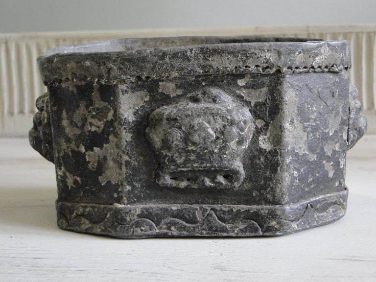 18th Century and Earlier 18th Century Lead Tobacco Box For Sale
