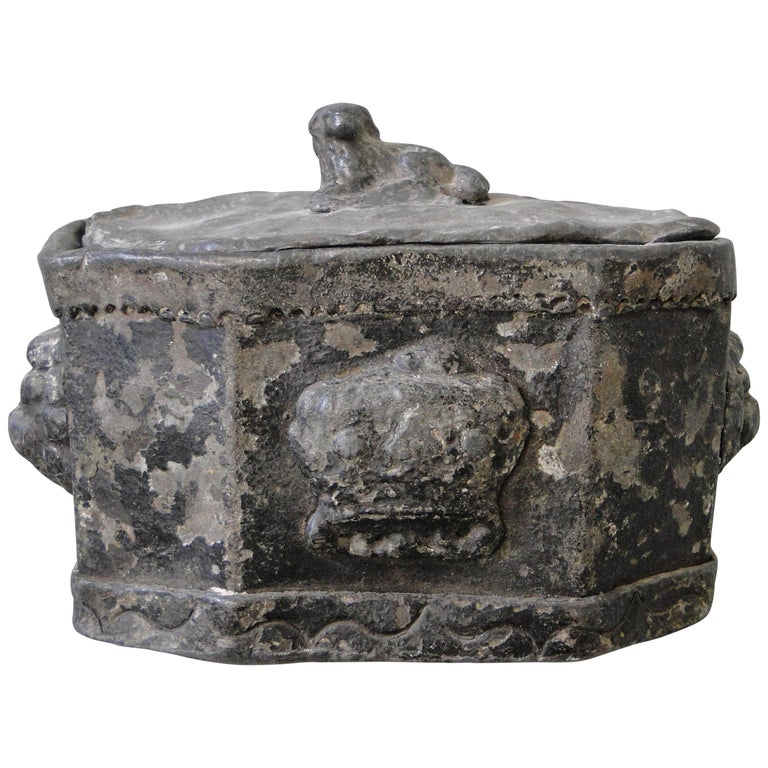 18th Century Lead Tobacco Box For Sale