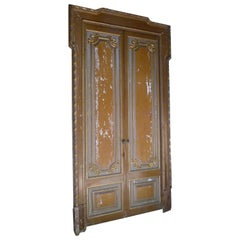 18th Century Light Brown Patina Wooden Door from a Palace in Spain