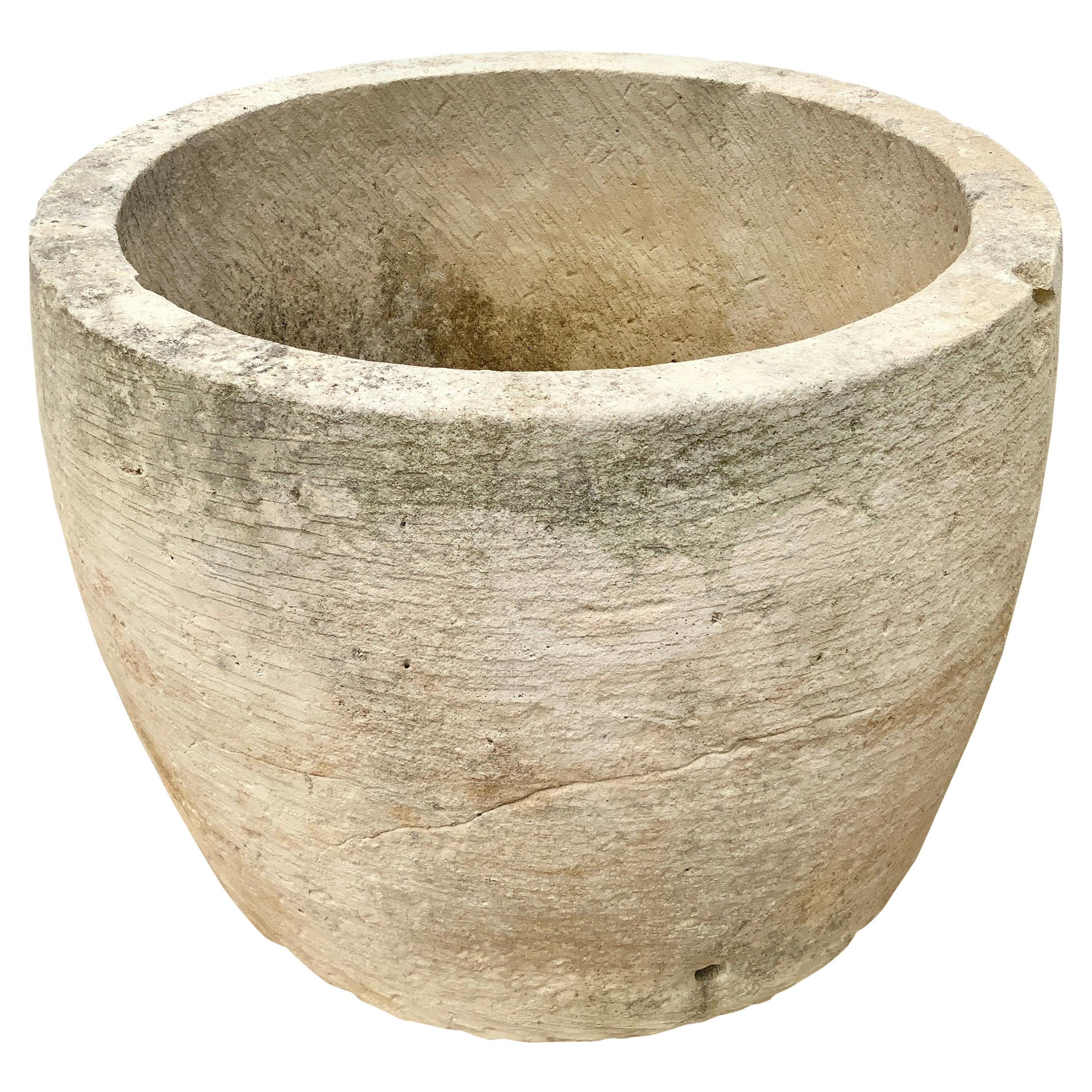 18th Century Limestone Trough from France