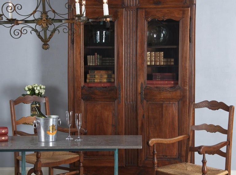 18th Century Louis XIV French Walnut Armoire or Vitrine For Sale 7