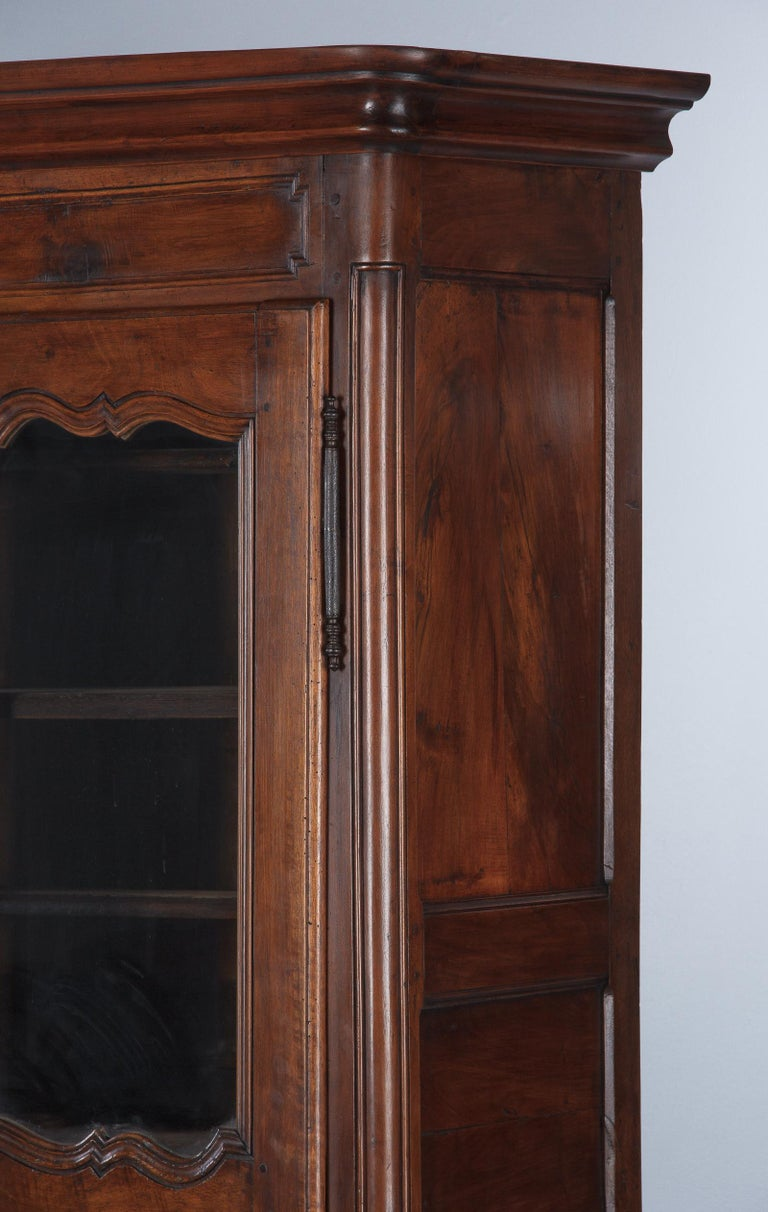18th Century Louis XIV French Walnut Armoire or Vitrine For Sale 10