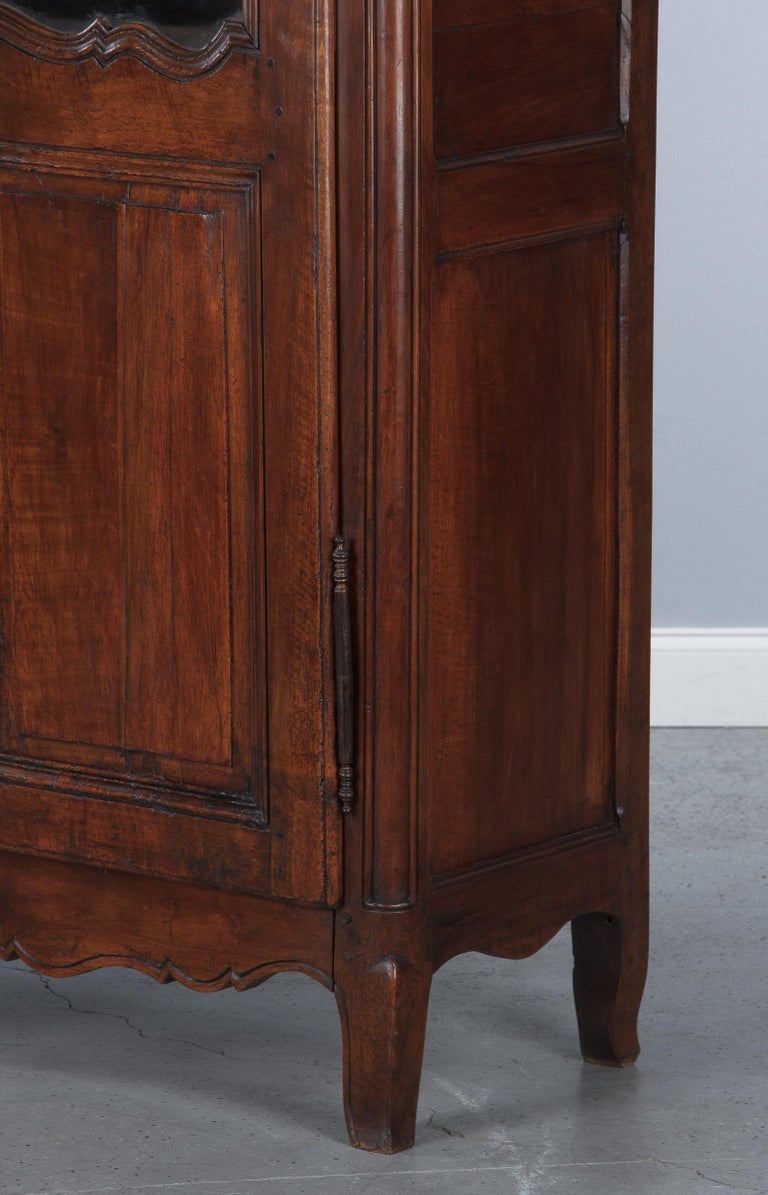 18th Century Louis XIV French Walnut Armoire or Vitrine For Sale 11