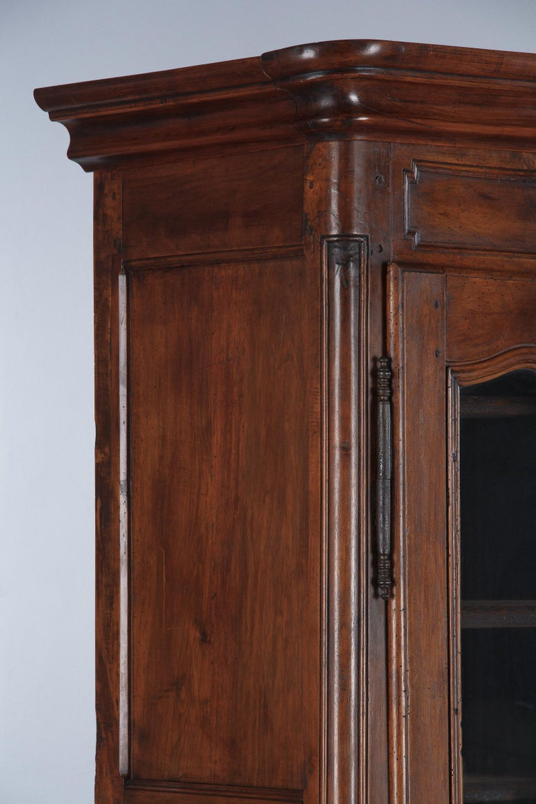 18th Century Louis XIV French Walnut Armoire or Vitrine For Sale 4