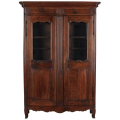 18th Century Louis XIV French Walnut Armoire or Vitrine