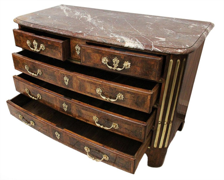 18th Century Louis XIV Style Chest of Drawers Stamped L.S. PAINSU in Violet Wood 4