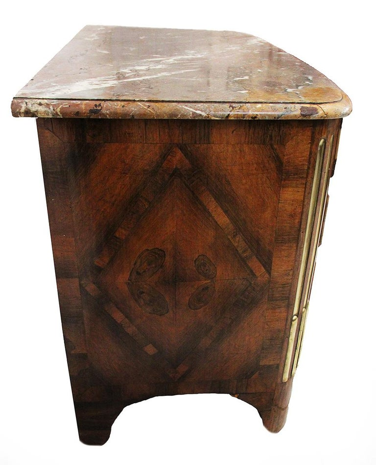 18th Century Louis XIV Style Chest of Drawers Stamped L.S. PAINSU in Violet Wood 3