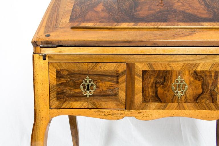 18th Century Louis XV Baroque Walnut Fall Front Desk/Secretaire  For Sale 10