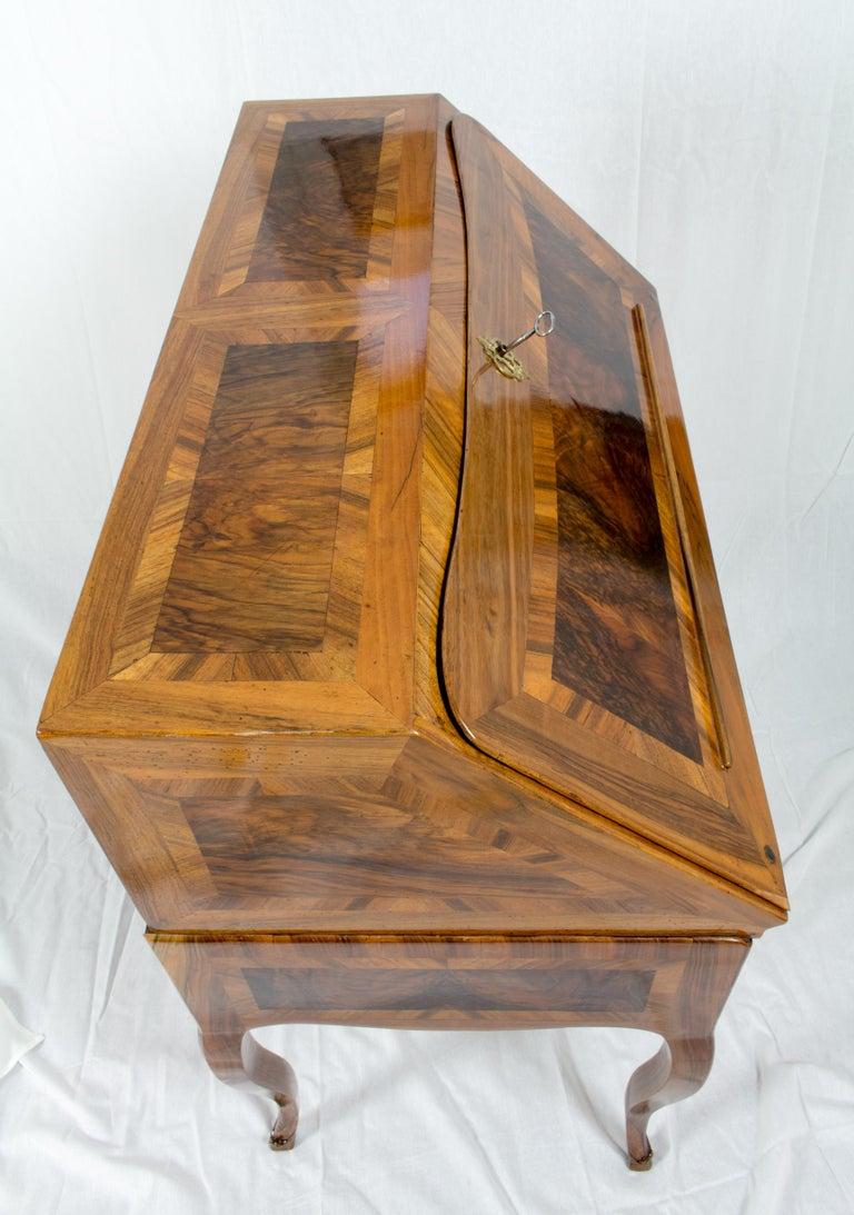 18th Century Louis XV Baroque Walnut Fall Front Desk/Secretaire  For Sale 1