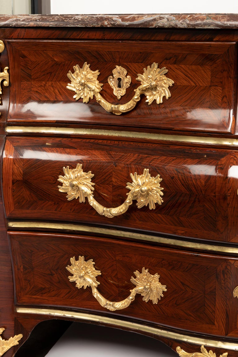 French 18th Century, Louis XV Commode, Traces of a Stamp by M. Criaerd For Sale