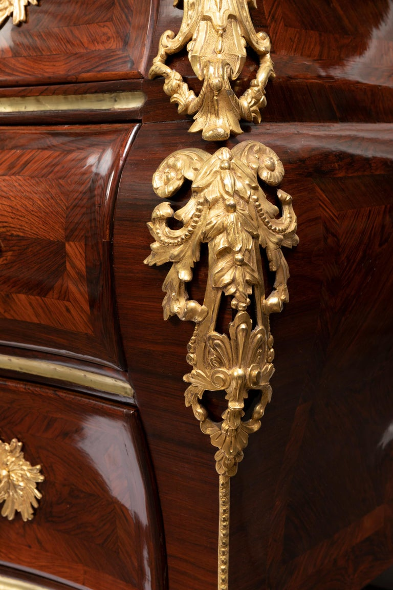 Rosewood 18th Century, Louis XV Commode, Traces of a Stamp by M. Criaerd For Sale
