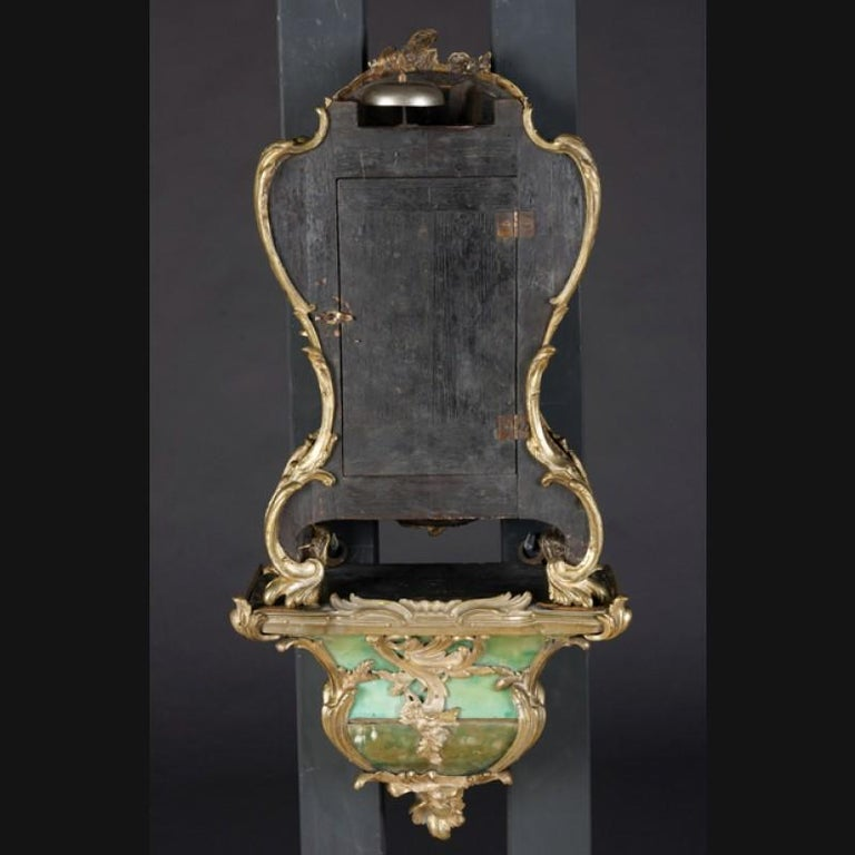 18th Century Louis XV French Bronze-Gilt Clock on Console For Sale 4