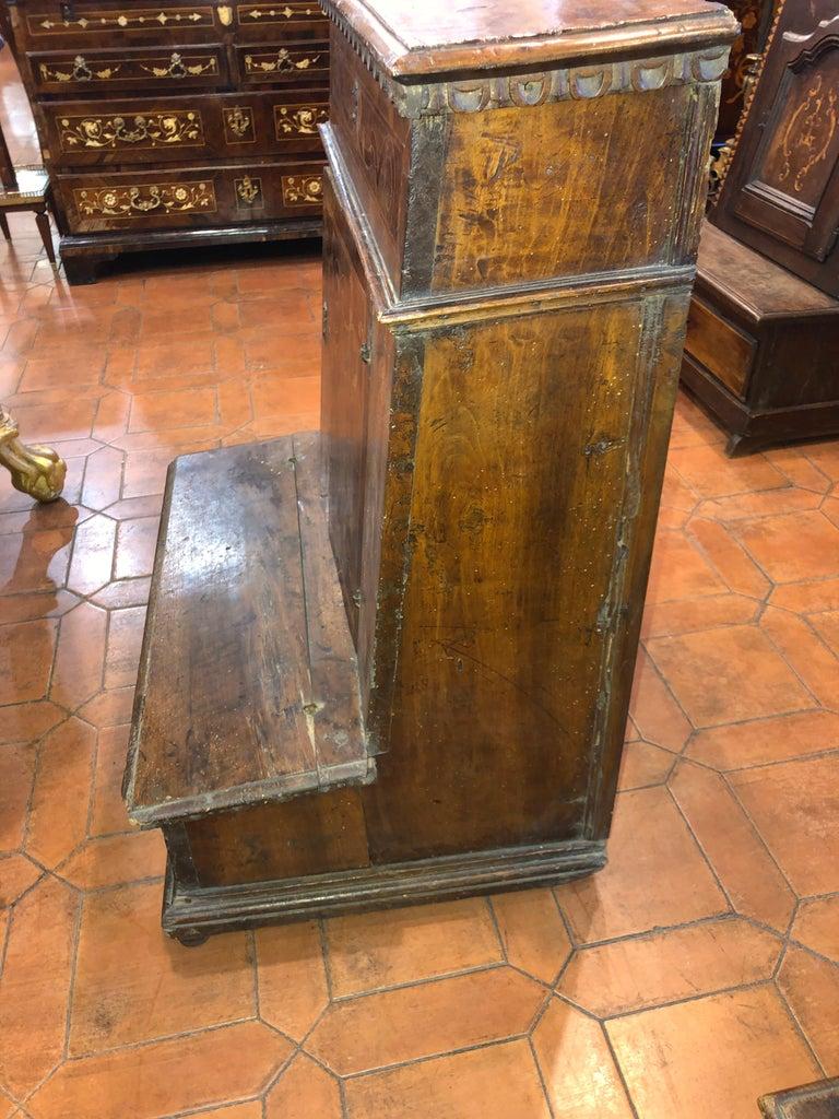 18th Century Louis XV Italian Inlay Faldstool, 1720s For Sale 5