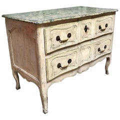 18th Century Louis XV Painted French Commode