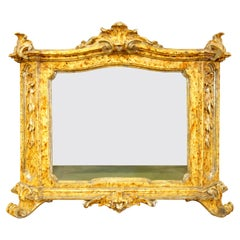 18th Century Louis XV Painted Silver Leaf Display Case Tabernacolo, circa 1770