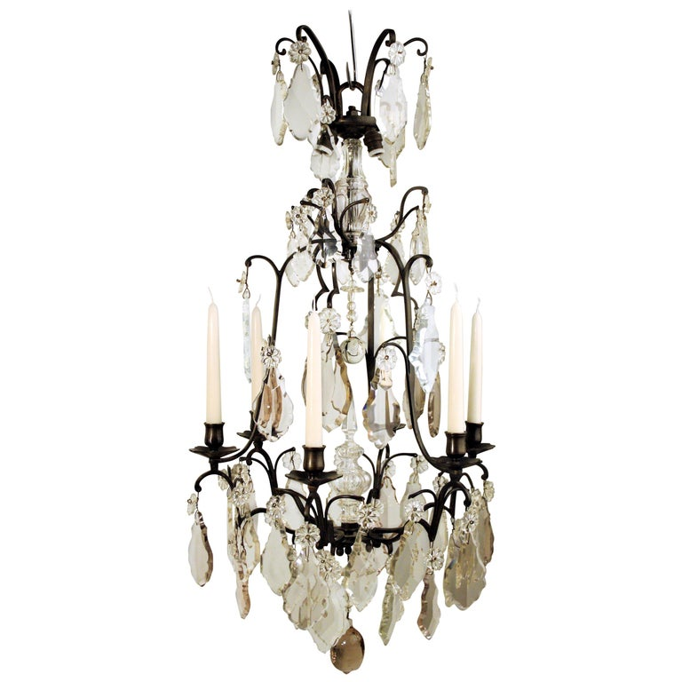 18th Century, Louis XV Period Crystal Chandelier For Sale