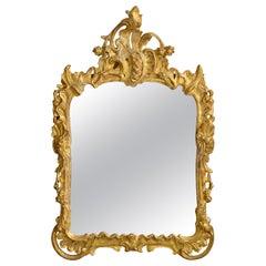 18th Century Louis XV Rococo Giltwood Mirror