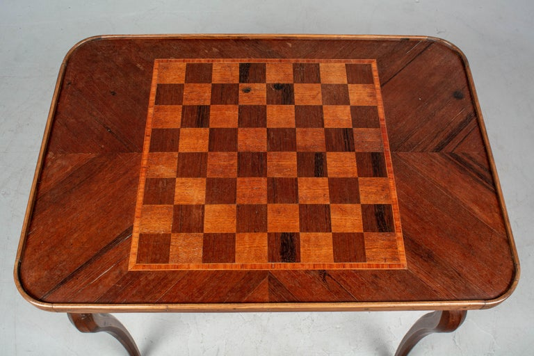 18th Century Louis XV Style French Game Table For Sale 4