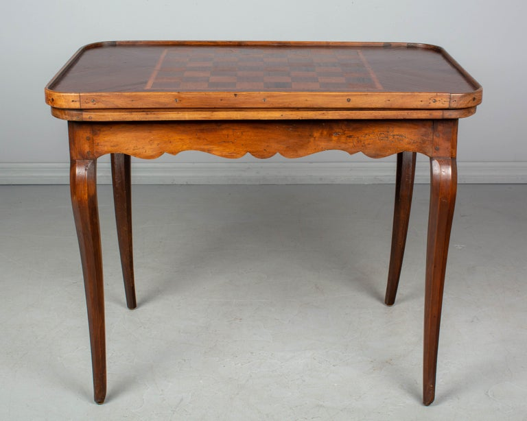Hand-Crafted 18th Century Louis XV Style French Game Table For Sale