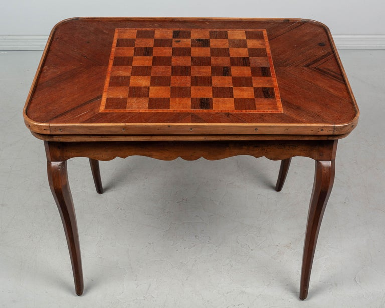 18th Century and Earlier 18th Century Louis XV Style French Game Table For Sale