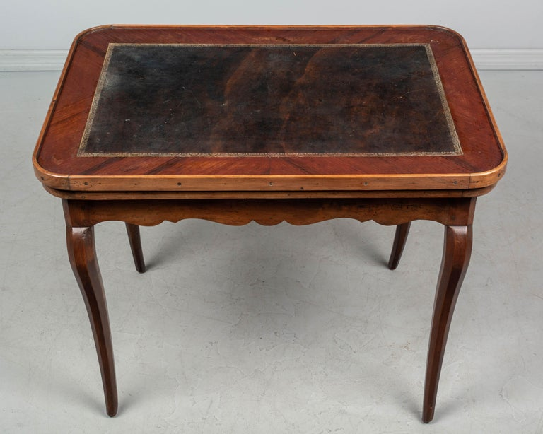 Velvet 18th Century Louis XV Style French Game Table For Sale