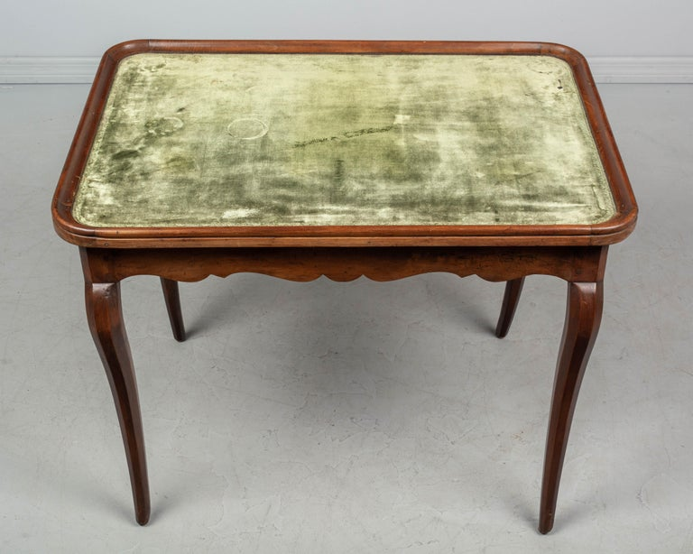 18th Century Louis XV Style French Game Table For Sale 1