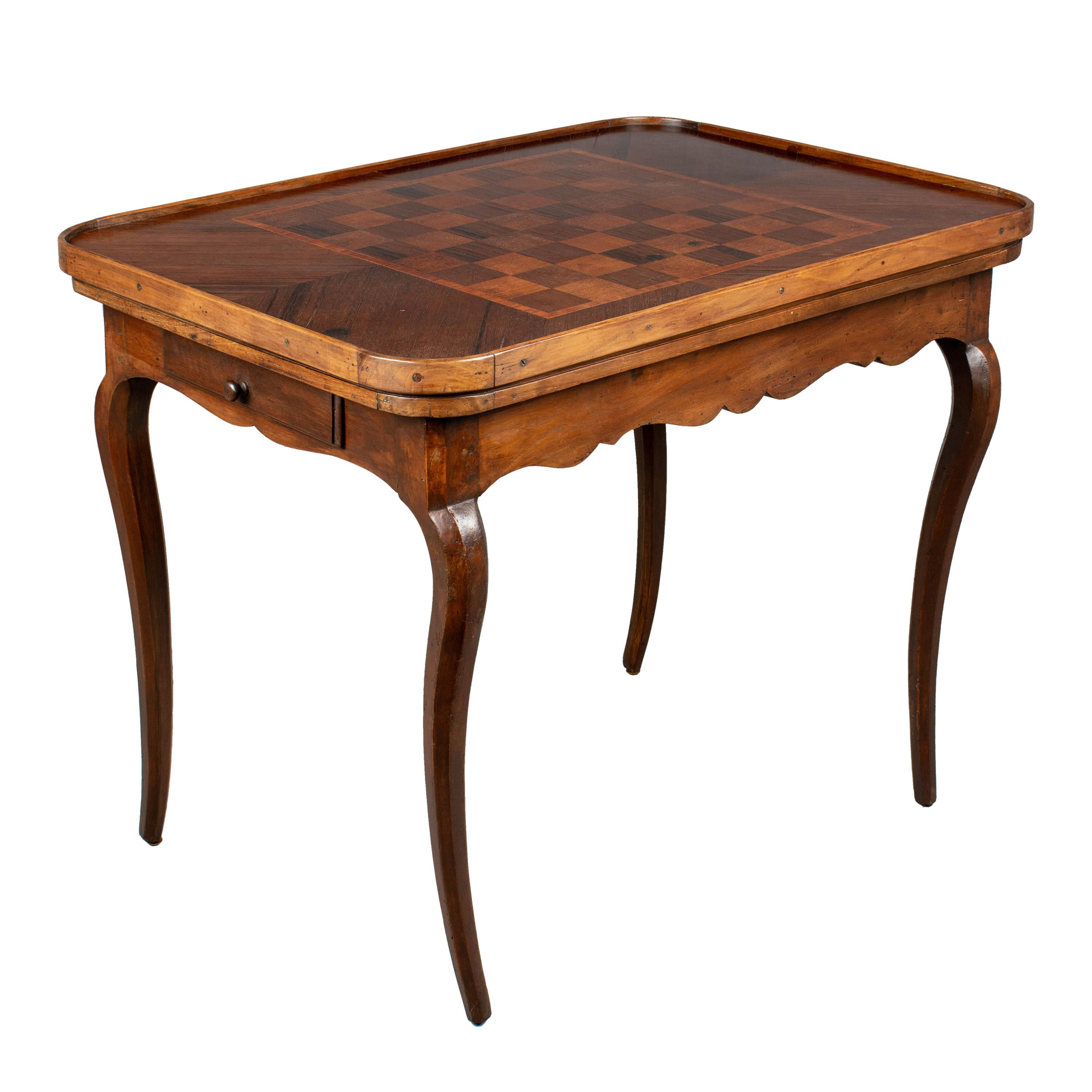 18th Century Louis XV Style French Game Table