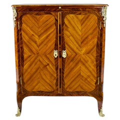 18th Century Louis XV Transition Small Cabinet Ecritoire Stamped by Bon Durand