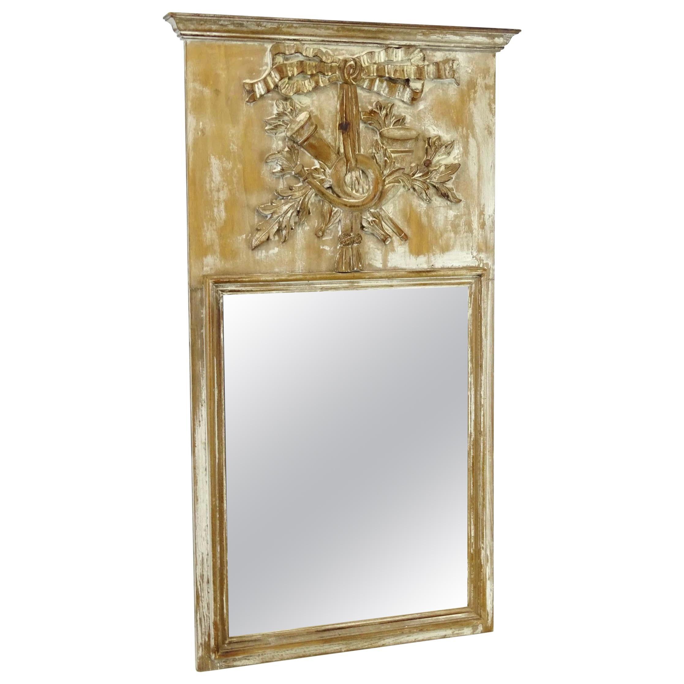 18th Century Louis XV Trumeau Mirror