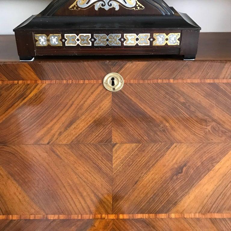 18th Century Louis XV Walnut Bureau Italian Genoese Drop-Front Desk For Sale 8