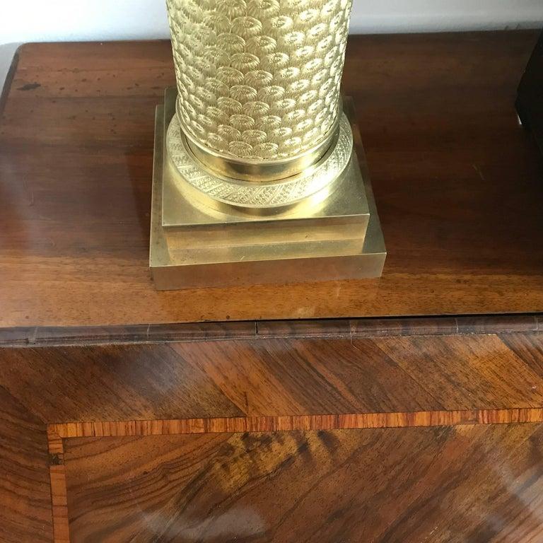 18th Century Louis XV Walnut Bureau Italian Genoese Drop-Front Desk For Sale 12