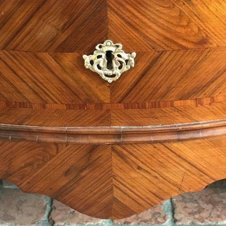 18th Century Louis XV Walnut Bureau Italian Genoese Drop-Front Desk For Sale 2