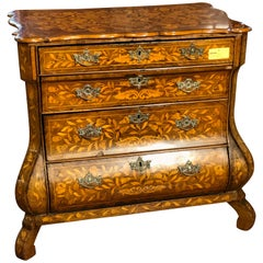 18th Century Louis XV Walnut Inlaid  Ducth Chest of Drawers, 1770s