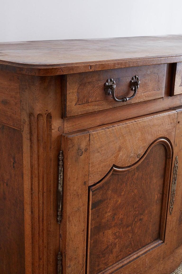 18th Century Louis XV Walnut Vaisselier Buffet Sideboard For Sale 4