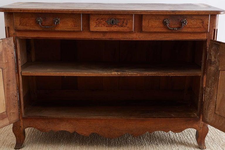 18th Century Louis XV Walnut Vaisselier Buffet Sideboard For Sale 7