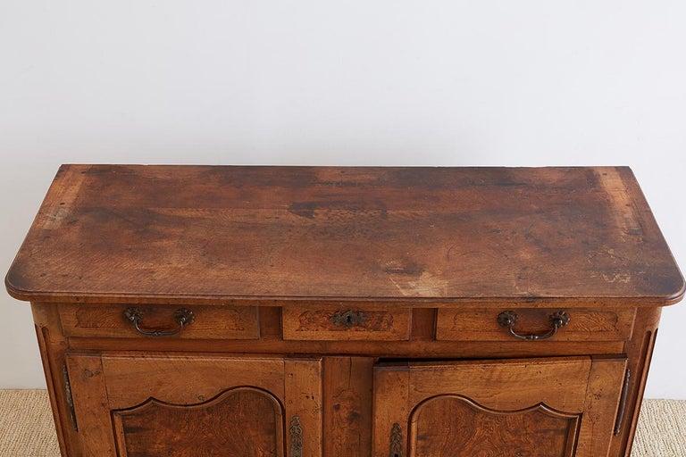 18th Century Louis XV Walnut Vaisselier Buffet Sideboard For Sale 11