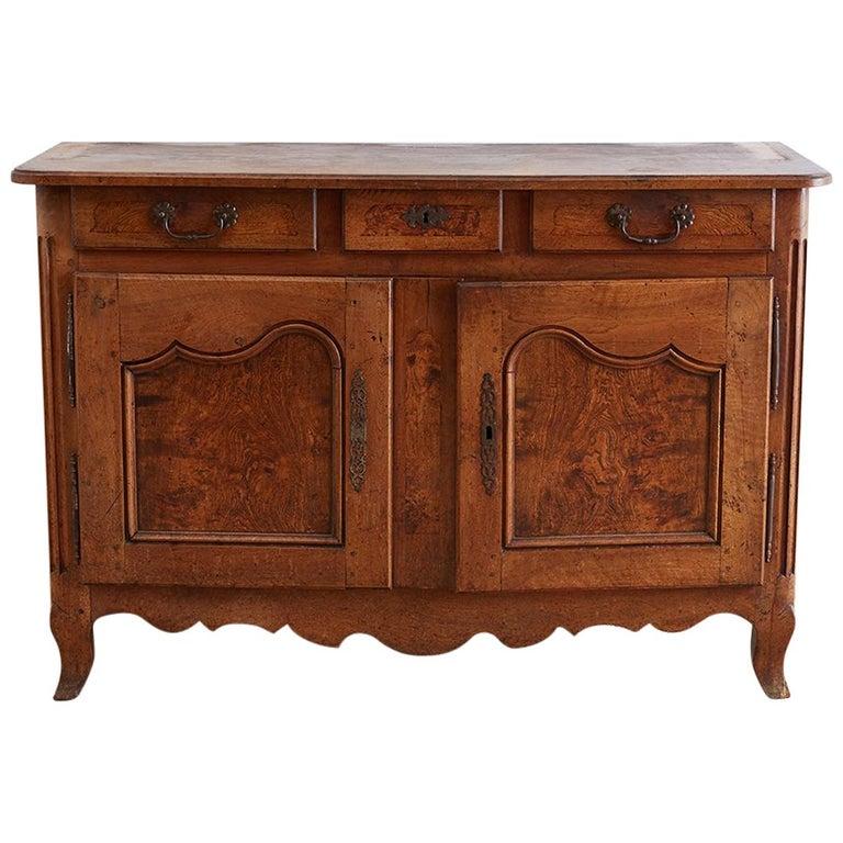 18th Century Louis XV Walnut Vaisselier Buffet Sideboard For Sale