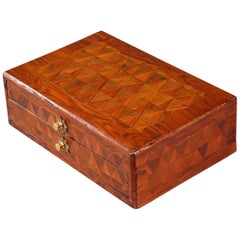 18th Century Louis XV Wood Marquetry Writing Box