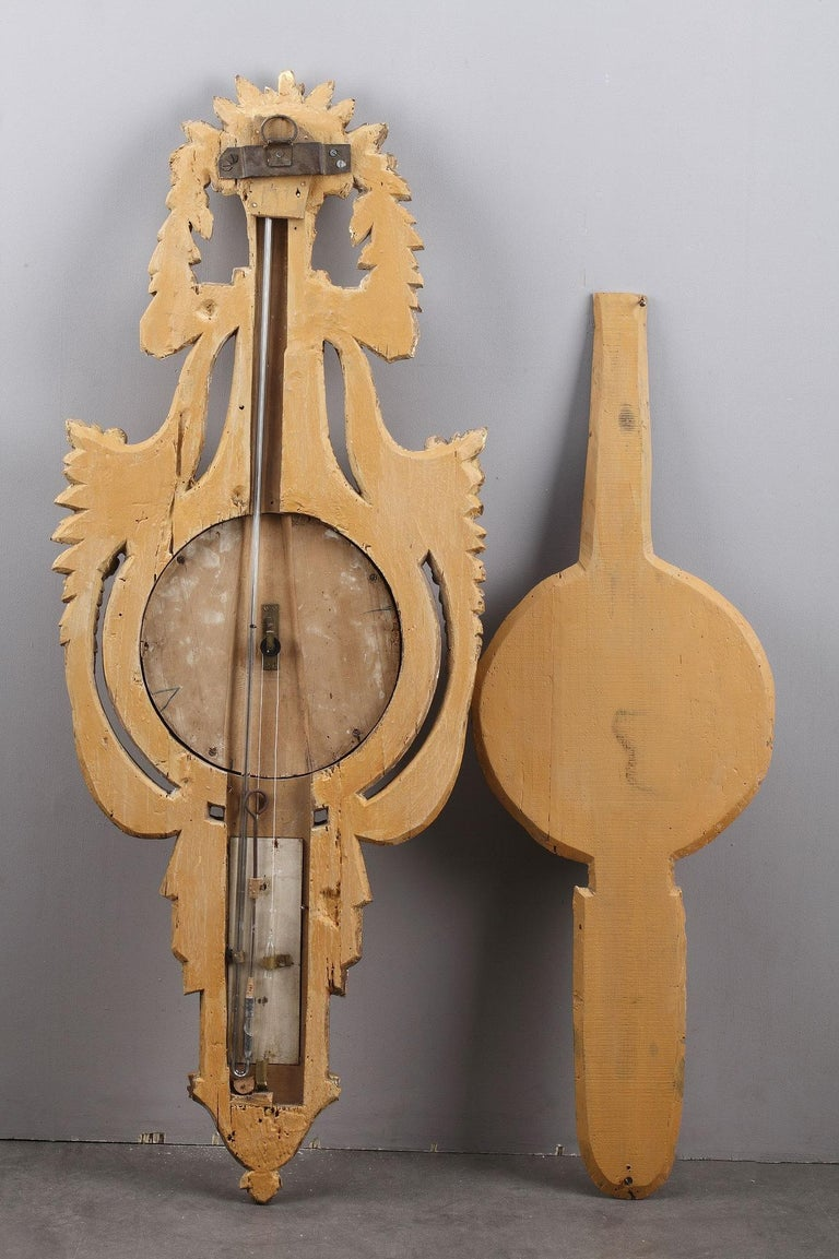 18th Century Louis XVI Barometer and Thermometer For Sale 9