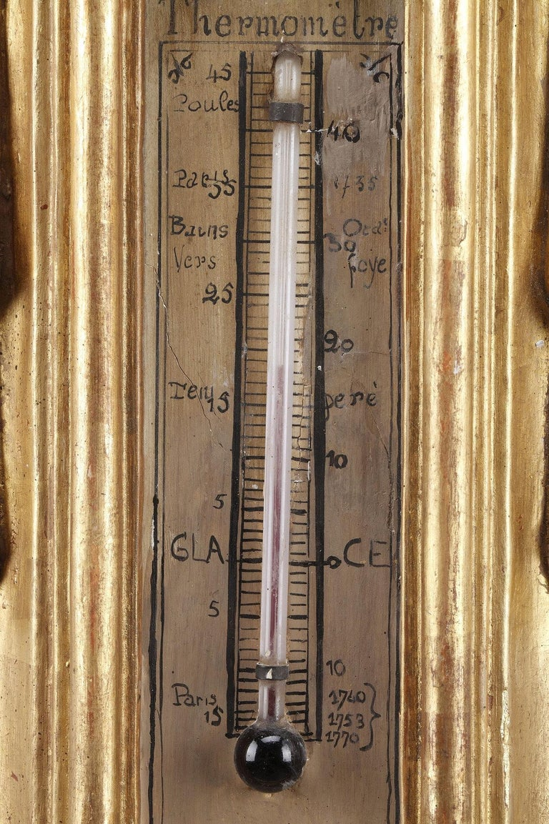 18th Century Louis XVI Barometer and Thermometer In Good Condition For Sale In Paris, FR