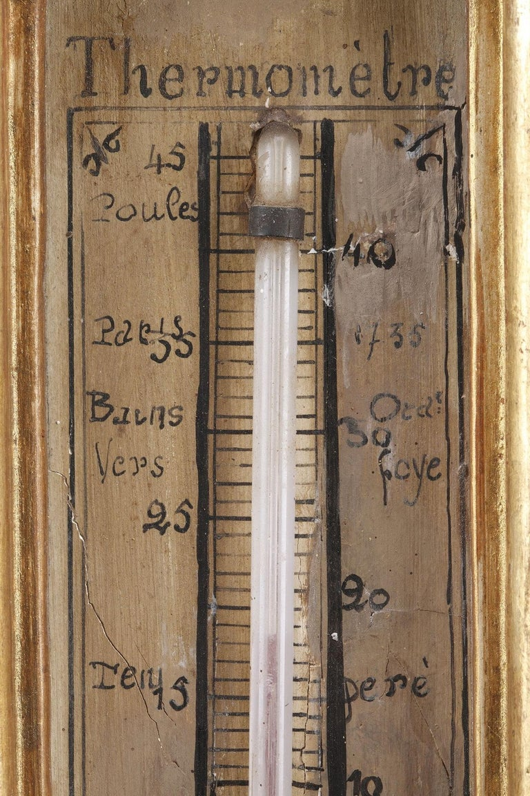 18th Century Louis XVI Barometer and Thermometer For Sale 1