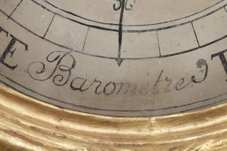 18th Century Louis XVI Barometer and Thermometer For Sale 2
